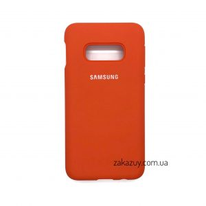 Оригинальный чехол Silicone Cover 360 с микрофиброй для Samsung G970 Galaxy S10e (Orange)