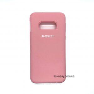 Оригинальный чехол Silicone Cover 360 с микрофиброй для Samsung G970 Galaxy S10e (Pink)