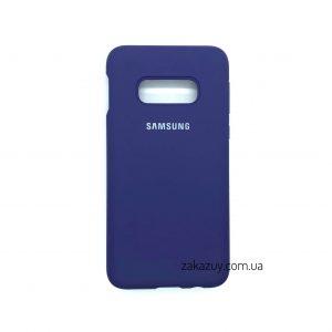 Оригинальный чехол Silicone Cover 360 с микрофиброй для Samsung G970 Galaxy S10e (Purple)