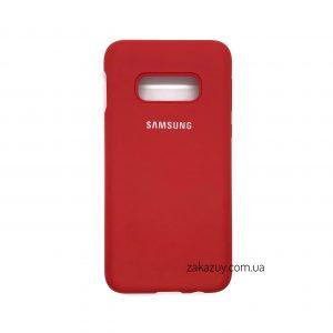 Оригинальный чехол Silicone Cover 360 с микрофиброй для Samsung G970 Galaxy S10e (Red)