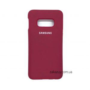 Оригинальный чехол Silicone Cover 360 с микрофиброй для Samsung G970 Galaxy S10e (Hot Pink)