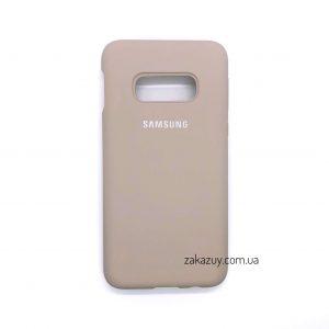 Оригинальный чехол Silicone Cover 360 с микрофиброй для Samsung G970 Galaxy S10e (Pink Sand)
