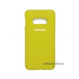Оригинальный чехол Silicone Cover 360 с микрофиброй для Samsung G970 Galaxy S10e (Yellow)