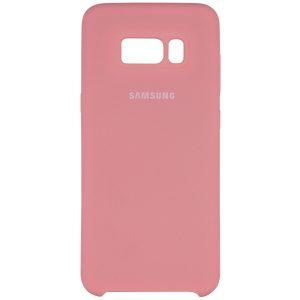 Оригинальный чехол Silicone Case с микрофиброй для Samsung G950 Galaxy S8 (Розовый)