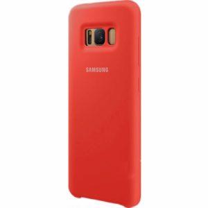 Оригинальный чехол Silicone Case с микрофиброй для Samsung G950 Galaxy S8 (Красны)
