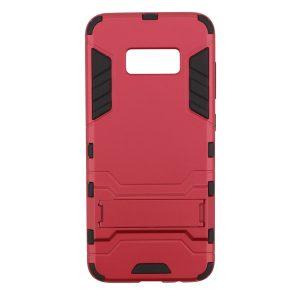Ударопрочный чехол Transformer с подставкой на Samsung G950 Galaxy S8 (Красный)