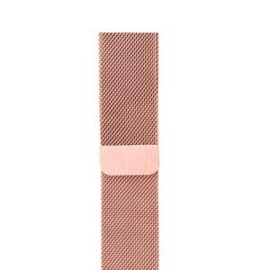 Ремешек Миланская петля Milanese Loop для Apple Watch 38 mm / 40 mm / SE 40 mm №4 (Розовый)