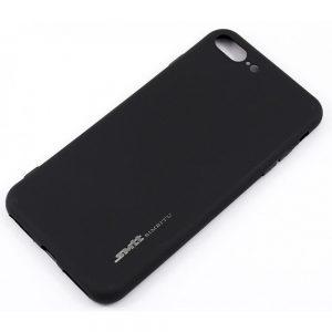 Матовый силиконовый (TPU) чехол для Iphone 7 Plus / 8 Plus (Черный)