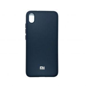 Оригинальный чехол Silicone Cover 360 с микрофиброй для Xiaomi Redmi 7A (Темно-синий)