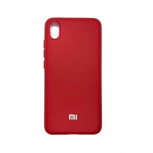 Оригинальный чехол Silicone Cover 360 с микрофиброй для Xiaomi Redmi 7A (Красный)