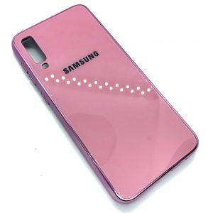 TPU+Glass чехол Glass Case Logo зеркальный для Samsung Galaxy A50 2019 (A505) Розовый