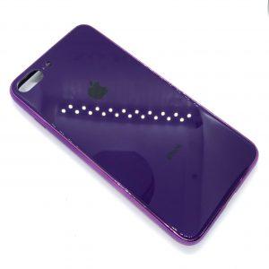 TPU+Glass чехол Glass Case Logo зеркальный для Iphone 7 Plus / 8 Plus (Фиолетовый)