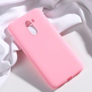 Матовый силиконовый (TPU) чехол для Xiaomi Pocophone F1 (Розовый)