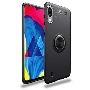 Cиликоновый чехол Deen ColorRing c креплением под магнитный держатель для Samsung A105 Galaxy A10 2019 (Черный)