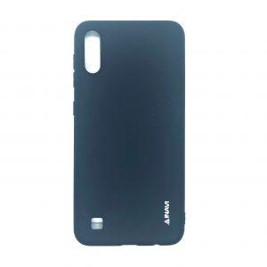 Матовый силиконовый (TPU) чехол для Samsung Galaxy A10 2019 (A105) / M10 (Темно-синий)