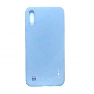 Матовый силиконовый (TPU) чехол для Samsung Galaxy A10 2019 (A105) / M10 (Светло-Голубой)