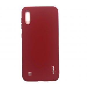 Матовый силиконовый (TPU) чехол для Samsung Galaxy A10 2019 (A105) / M10 (Красный)