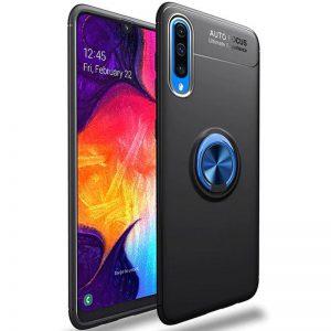 Cиликоновый чехол Deen ColorRing c креплением под магнитный держатель для Samsung Galaxy A50 2019 (A505) / A30s 2019 (A307) (Синий)