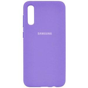 Оригинальный чехол Silicone Cover 360 с микрофиброй для Samsung Galaxy A70 2019 (A705) Сиреневый