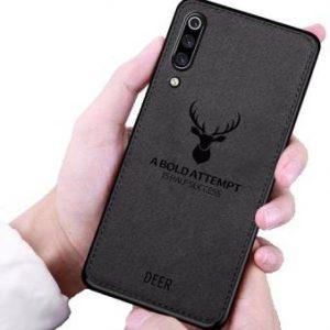 Силиконовый чехол (TPU+экокожа) Deer для Samsung Galaxy A50 2019 (A505) (Черный)