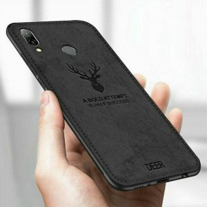 Силиконовый чехол (TPU+экокожа) Deer для Samsung Galaxy A20 2019 / A30 2019 (Черный)