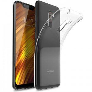 Прозрачный силиконовый TPU чехол для Xiaomi Pocophone F1