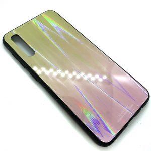 TPU+Glass чехол Gradient Aurora с градиентом для Samsung A50 2019 (A505) (Салатовый / Розовый)