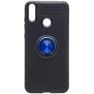 Cиликоновый чехол Deen ColorRing c креплением под магнитный держатель для Huawei Honor 8C (Синий)