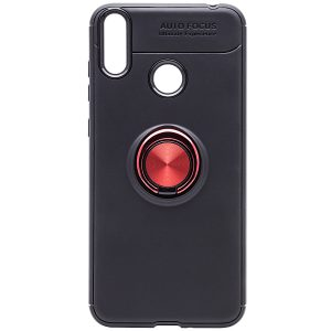 Cиликоновый чехол Deen ColorRing c креплением под магнитный держатель для Huawei Honor 8C (Красный)
