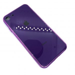 TPU+Glass чехол Glass Case Logo зеркальный для Iphone 7 / 8 (Фиолетовый)