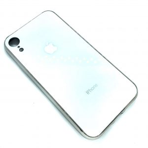TPU+Glass чехол Glass Case Logo зеркальный для Iphone XR (Белый)