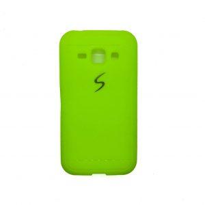 Матовый силиконовый (TPU) чехол для Samsung Galaxy J1 Ace (J110) / J1 2016 (J120) (Салатовый)