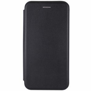 Кожаный чехол-книжка 360 с визитницей для Xiaomi Redmi 7A (Черный)