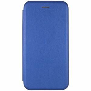 Кожаный чехол-книжка 360 с визитницей для Samsung Galaxy A10 2019 (A105) (Синий)
