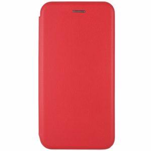 Кожаный чехол-книжка 360 с визитницей для Xiaomi Redmi 8A – Красный