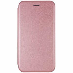 Кожаный чехол-книжка 360 с визитницей для Xiaomi Pocophone F1 – Rose gold