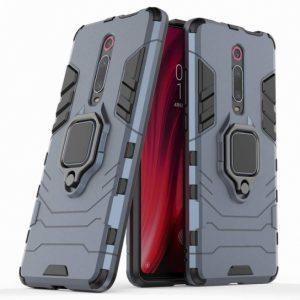 Ударопрочный чехол Transformer Ring под магнитный держатель для Xiaomi Redmi K20 / K20 Pro / Mi9T / Mi9T Pro (Серый)