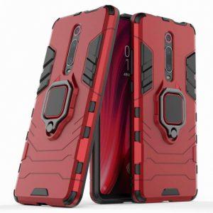 Ударопрочный чехол Transformer Ring под магнитный держатель для Xiaomi Redmi K20 / K20 Pro / Mi9T / Mi9T Pro (Красный)