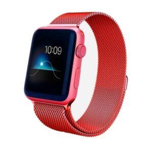 Ремешек Миланская петля Milanese Loop для Apple Watch 38 mm / 40 mm / SE 40 mm №6 (Красный)