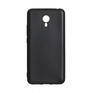 Матовый силиконовый (TPU) чехол для Meizu M3 Note (Черный)