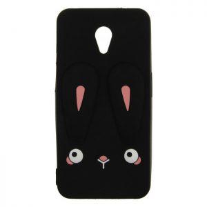 Силиконовый чехол 3D TOTO Silicone Cartoon Network Rabbit для Meizu M6s – Black