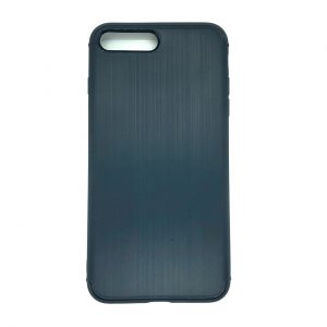 Cиликоновый (TPU) чехол Metal для Iphone 7 Plus / 8 Plus (Синий)