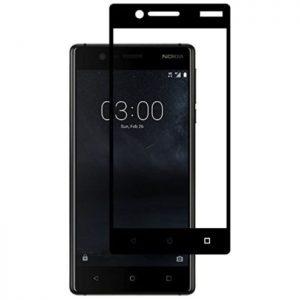 Защитное стекло 2.5D (3D) Full Cover для Nokia 3 на весь экран – Black
