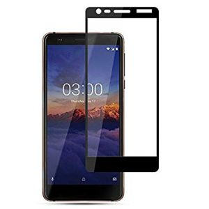 Защитное стекло 2.5D (3D) Full Cover для Nokia 3.1 на весь экран — Black