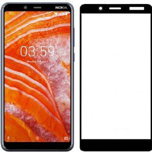 Защитное стекло 2.5D (3D) Full Cover для Nokia 3.1 Plus на весь экран – Black