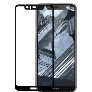 Защитное стекло 2.5D (3D) Full Cover для Nokia 5.1 Plus / Nokia X5 на весь экран — Black