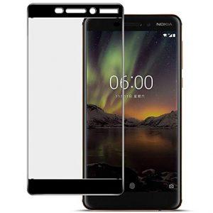 Защитное стекло 2.5D (3D) Full Cover для Nokia 6.1 на весь экран – Black