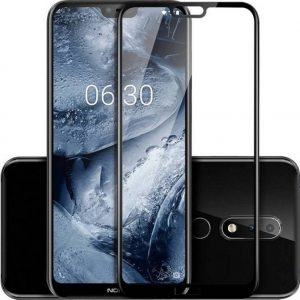 Защитное стекло 3D Full Cover на весь экран для Nokia 6.1 Plus (Black)