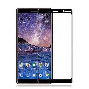Защитное стекло 2.5D (3D) Full Cover для Nokia 7 Plus на весь экран – Black