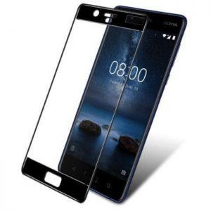 Защитное стекло 3D Full Cover на весь экран для Nokia 8 (Black)